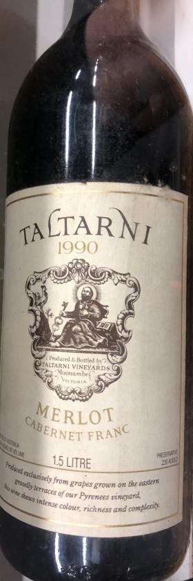 Taltarni Merlot Cab Franc 1990 1.5l