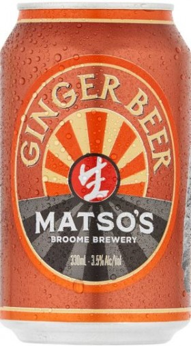 Matso Ginger Beer From Broome Cans