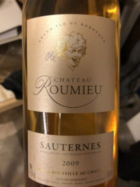 Chateau Roumieu - Sauternes 2009
