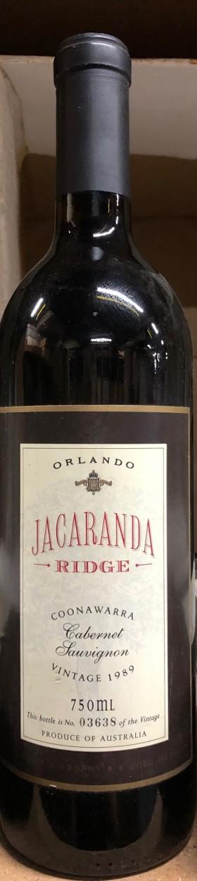 Orlando - Jacaranda Cabernet 1989
