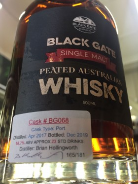 Black Gate Peated Cask Strength Bg068