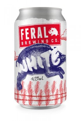 Feral White Wit Beer Cans
